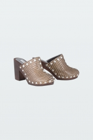 Dorothee Schumacher LUXURIOUS LIZARD clogs - cognac lizard
