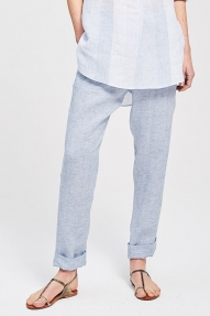 Zenggi Linen Chambray Chino Brooklyn blauw