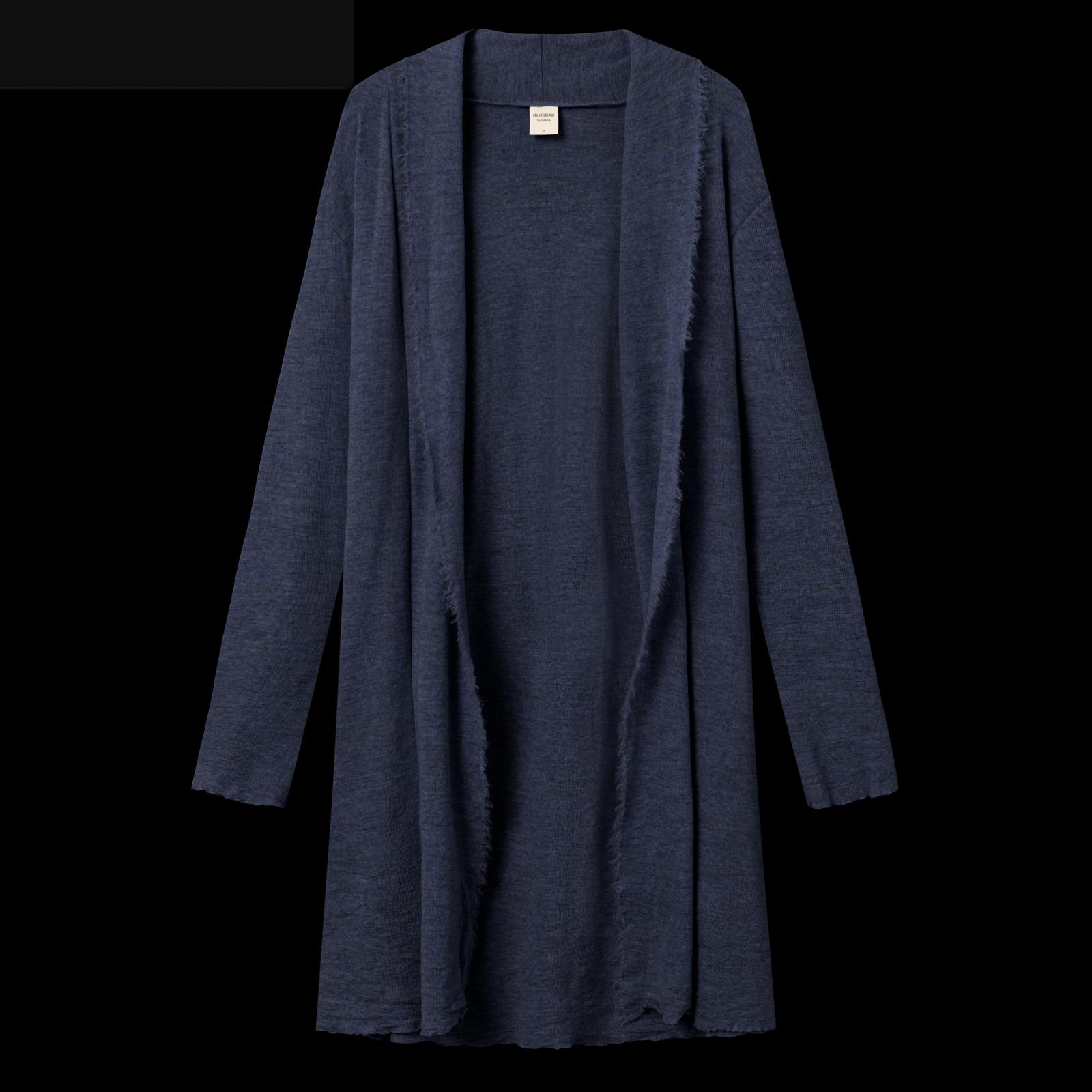 by basics long cardigan - midnight blue melange
