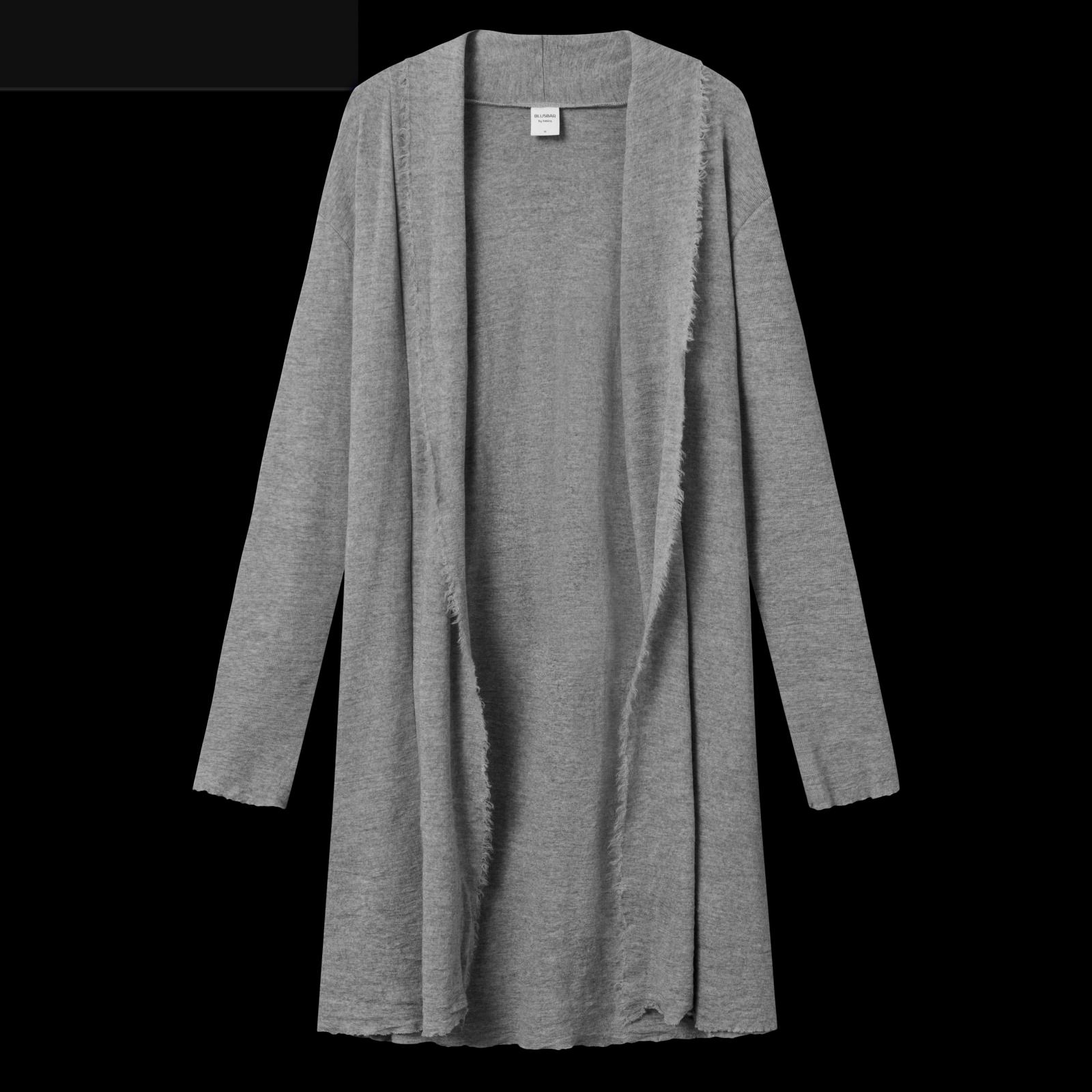 by basics long cardigan - steel grey
