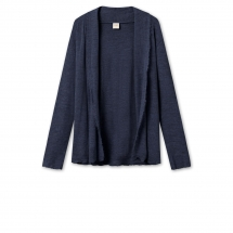 by basics short cardigan- midnight blue melange