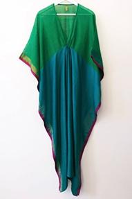 Two Silk/Cotton Sari Caftan multicolour