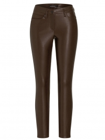 Cambio ray vegan leren broek - deep brown