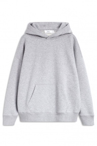 Closed Organic Cotton Hoodie with Print - grey heather