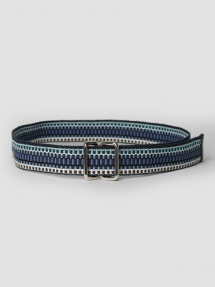 Closed Woven Textile Belt archive blue