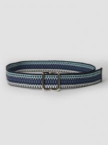 Closed Woven Textile Belt archive blue