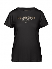Goldbergh daisy short sleeve top black/gold