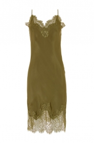Gold Hawk GRACE SLIP DRESS groen