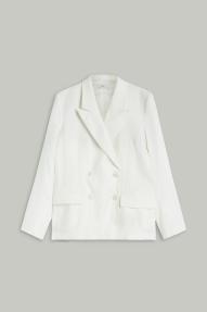 Closed linen & lyocell Esra blazer - ivory