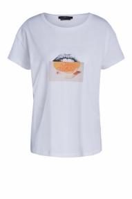 SET Fashion Casual print shirt - bright white