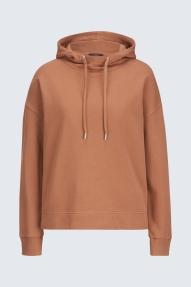 Windsor hoodie jersey - jersey brown