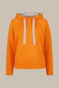 Windsor Double-Knit Merino Hoodie - bright orange