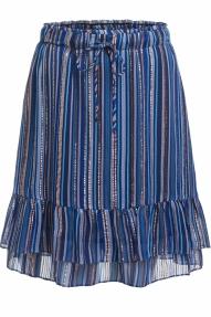 SET Fashion midi skirt with golden lurex stripes - blue