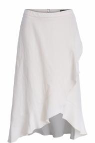 SET Fashion Midi skirt with sewn-on flounces - milk