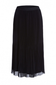 SET Fashion Plissée skirt in midi length - black