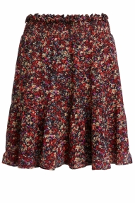 SET Fashion Miniskirt with rocky millefleurs - black red