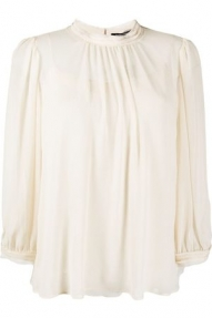 Luisa Cerano FLOWING BLOUSE - ivory