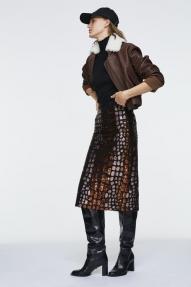 Dorothee Schumacher SEQUIN FANTASY skirt - shimmering cooper