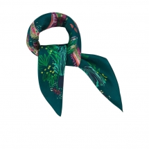 POM Amsterdam SHAWL - Silk Carre Snake multicolour