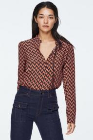 Dorothee Schumacher GRAPHIC POWER blouse - rose orange pixel