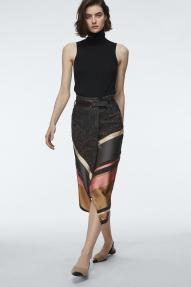 Dorothee Schumacher ENERGETIC LINES SKIRT - caramel stripes