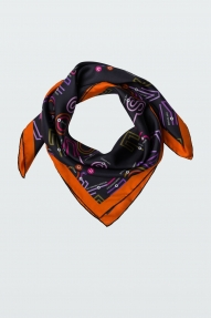 Dorothee Schumacher Patched up scarf-colourful map