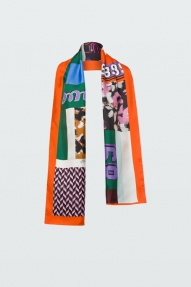 Dorothee Schumacher PATCHED UP silk scarf - colourful love
