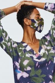 Dorothee Schumacher silky kiss mask - green flowers