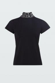 Dorothee Schumacher EMBELLISHED COOLNESS shirt 1/4 - black
