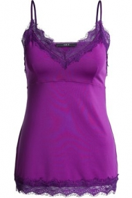 SET Fashion Taira Lace Strap Top  - punchy lilac