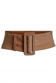 SET Fashion suede riem - light brown