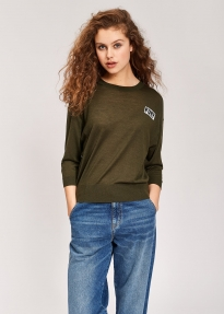 Essentiel TCHICO FURY BEADS SWEATER groen