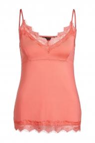 SET Fashion Taira Lace Strap Top - coral