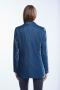Set Jacket velvet blauw