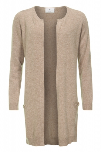 Resort Finest Nobile Cardigan With Pockets Taupe