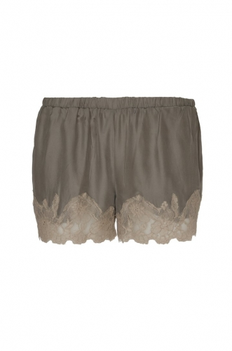 Gold Hawk Marilyn Lace Silk Shorts grijs