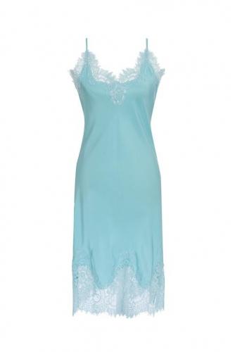 Gold Hawk Coco Bodice Lace Dress - aqua powder