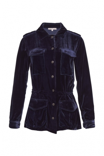 Gold Hawk Velvet Army Jacket donkerblauw