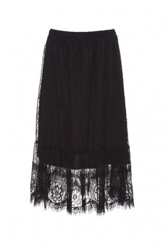 Gold Hawk Party Skirt zwart