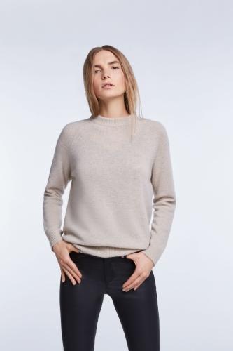 SET Fashion cashmere-wool sweater - light stone