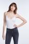 SET Fashion Taira Lace Strap Top - cloud dancer