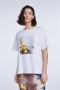 SET Fashion T-shirt with lemon print - bright white