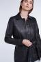 SET Fashion leren overshirt - zwart bij Marja Lamme Fashion Amsterdam