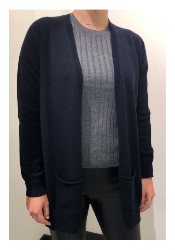 Allude 100% cashmere cardigan - navy