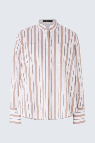 Windsor popline blouse - bruin