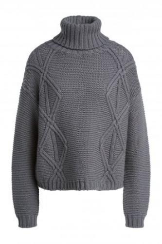 SET Fashion Turtleneck wool jumper - mink