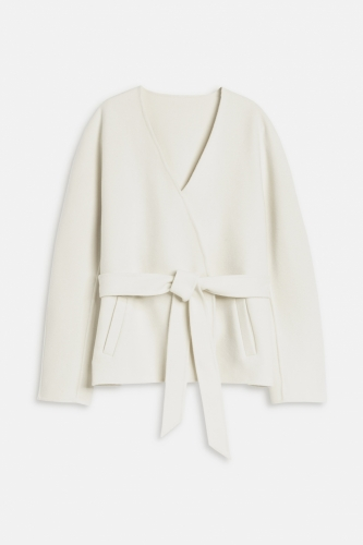Closed Doubleface Jacket with Cashmere - ivory