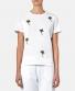 Sundek rising sun t-shirt sequin palms - White bij Marja Lamme Fashion Amsterdam!