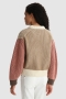 Woolrich Crewneck sweater Alaskan brown block bij Marja Lamme Fashion Amsterdam!